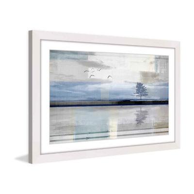 Shimmering Reflection Framed Painting Print