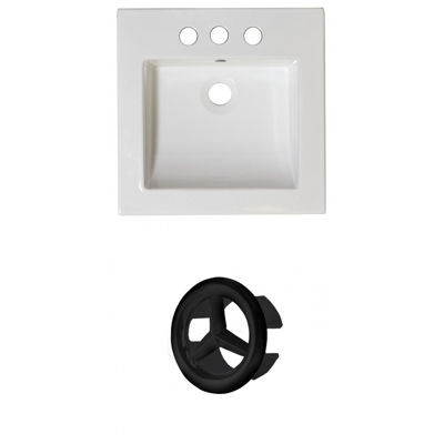 21.5-in. W 3H4-in. Ceramic Top Set In White Color