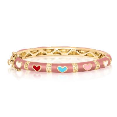 Girls 10K Gold Over Brass Bangle Bracelet