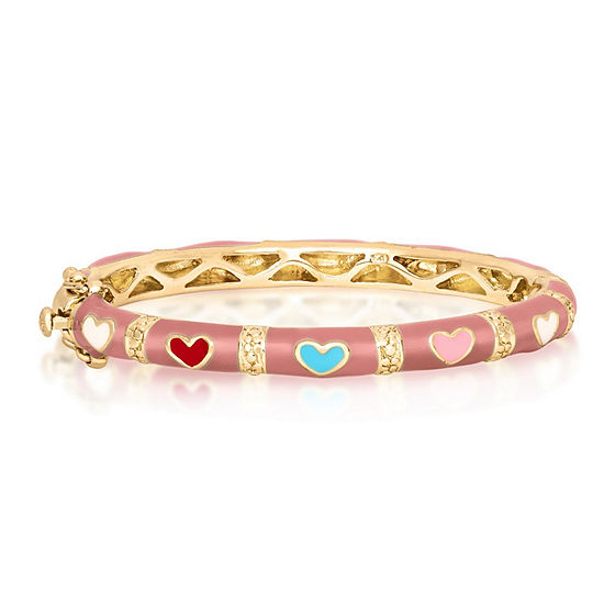 10K Gold Over Brass Bangle Bracelet