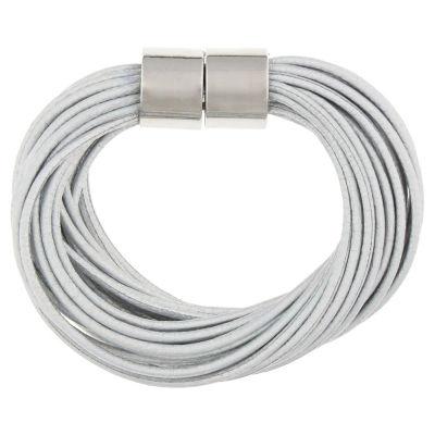 Decree Silver Tone Link Bracelet