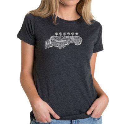 Los Angeles Pop Art Women's Premium Blend Word ArtT-shirt - Guitar Head