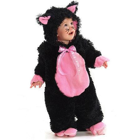Black & Pink Kitty Costume Costume, 18-24 Months , Black