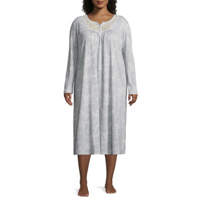 Adonna Womens Lace Detail Nightgown