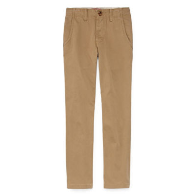 Arizona Stretch Chino Pants Boys 8-20, Slim & Husky