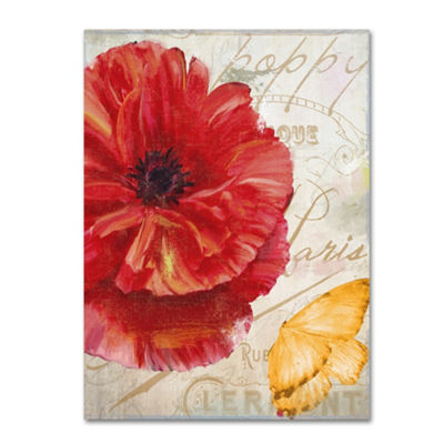 Trademark Fine Art Color Bakery Red Poppy Giclee Canvas Art