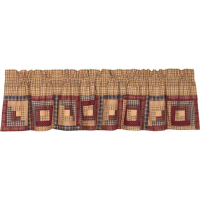 Rustic & Lodge Window Millsboro Log Cabin Block Border Valance