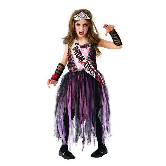 Girls Zombie Prom Queen Costume