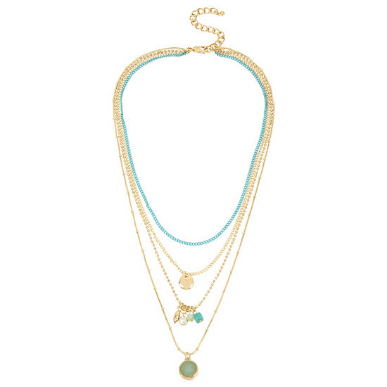 Nicole By Nicole Miller 16 Inch Link Pendant Necklace