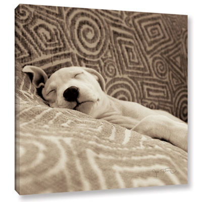 Dog Tired Gallery Wrapped Canvas
