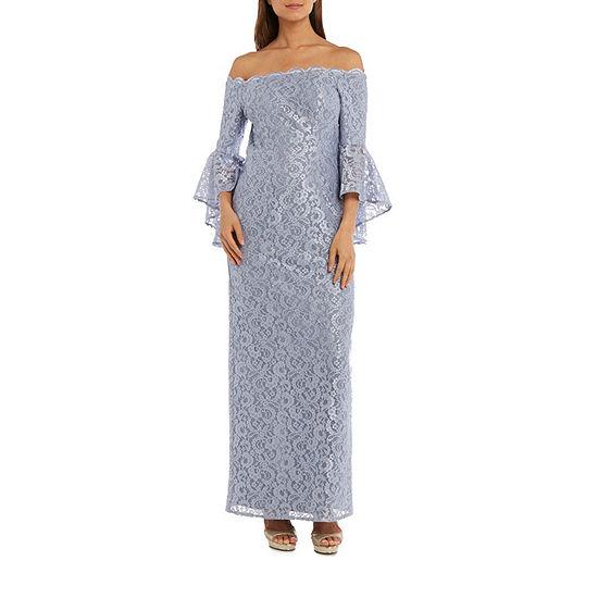 R&M Richards Long Lace Gown