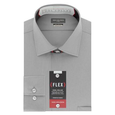 Van Heusen Cool Collar Stretch Long Sleeve Sateen Dress Shirt