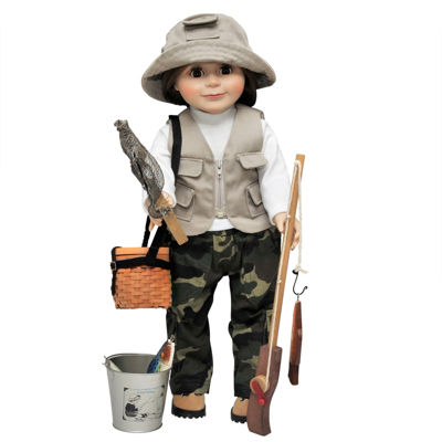 The Queen's Treasures 18 Inch Doll 7-pc. Fishing Adventure Set