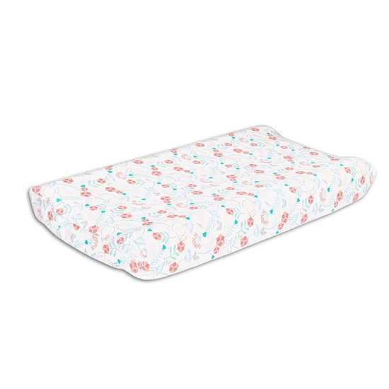The Peanut Shell Safari Love Knit Bassinet Pad