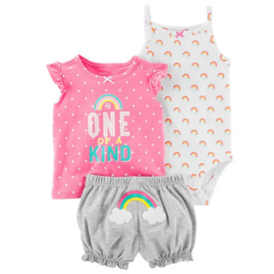 Carter's 3-pc. Short Set - Baby Girls