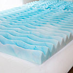 Authentic Comfort 3-Inch Foam Mattress Topper in College Sizes - Twin XL, Twin, Full