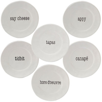 Certified International Just Words 4-pc. Appetizer Plate