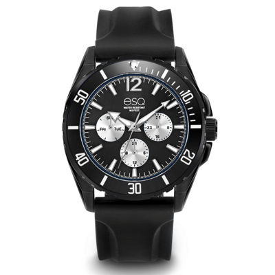 Esq Mens Black Strap Watch-37esq024401a