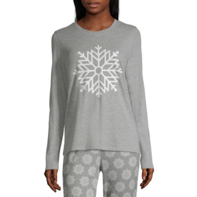 Sleep Chic Mix and Match Knit Long Sleeve Top