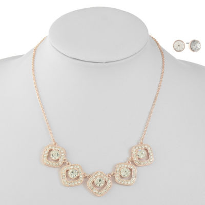 Liz Claiborne White Rose Tone 2-pc. Jewelry Set
