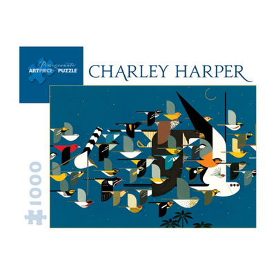 Pomegranate Communications Inc. Charley Harper - Mystery of the Missing Migrants Puzzle: 1000 Pcs