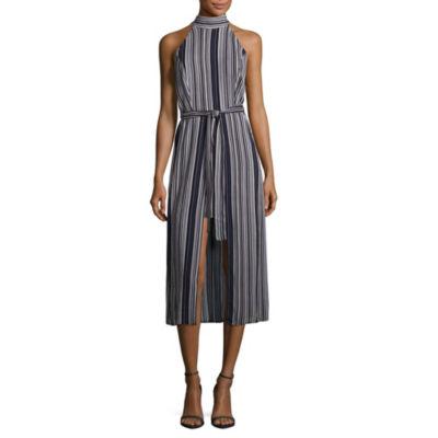 Emarld Sundae Sleeveless Striped Maxi Dress-Juniors