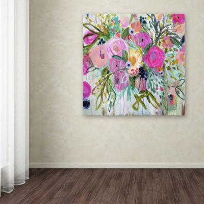 Trademark Fine Art Carrie Schmitt Rose Burst Giclee Canvas Art