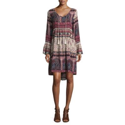 Artesia Bell Sleeve Tiered Dress