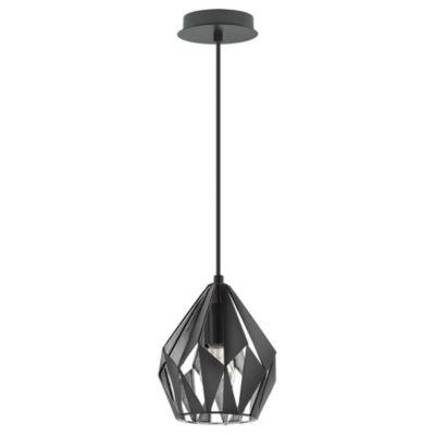 Eglo Carlton III 1-Light 7 inch Pendant Ceiling Light