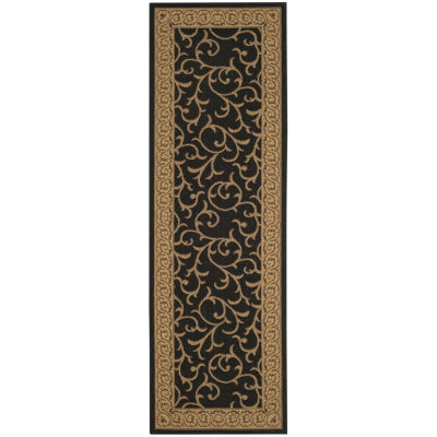 Safavieh Courtyard Collection Kiana Oriental Indoor/Outdoor Runner Rug