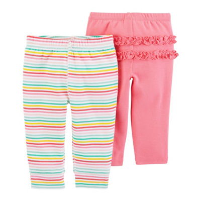 Carter's Baby Girls 2-pc. Straight Pull-On Pants