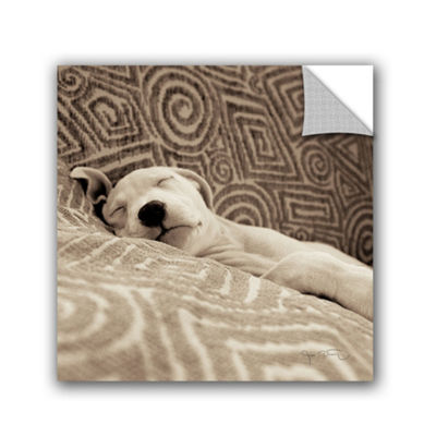 Dog Tired Removable Wall Decal