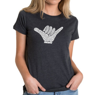 Los Angeles Pop Art Women's Premium Blend Word ArtT-shirt - TOP WORLDWIDE SURFING SPOTS