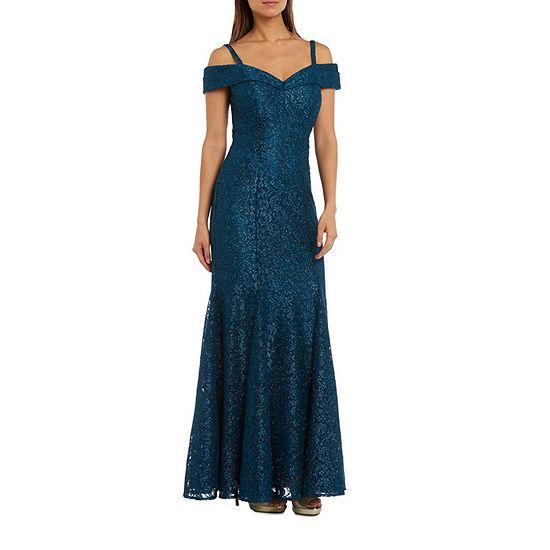 R&M Richards Long Lace Evening Gown