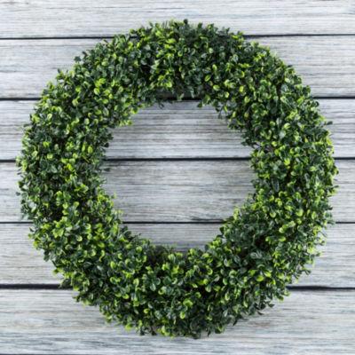 Pure Garden 19.5 In. Artificial Boxwood Wreath