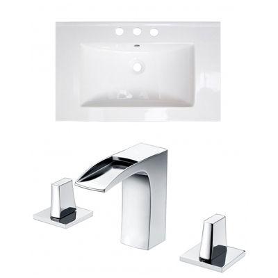 32-in. W 3H8-in. Ceramic Top Set In White Color -CUPC Faucet Incl.