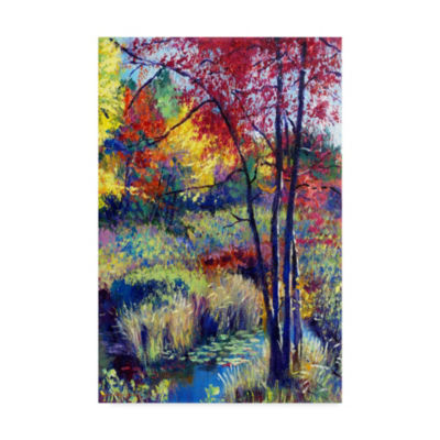 Trademark Fine Art David Lloyd Glover A Autumn Pond Ii Giclee Canvas Art