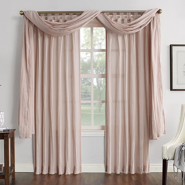 JCPenney Home Vivian Tab-Top Curtain Panel