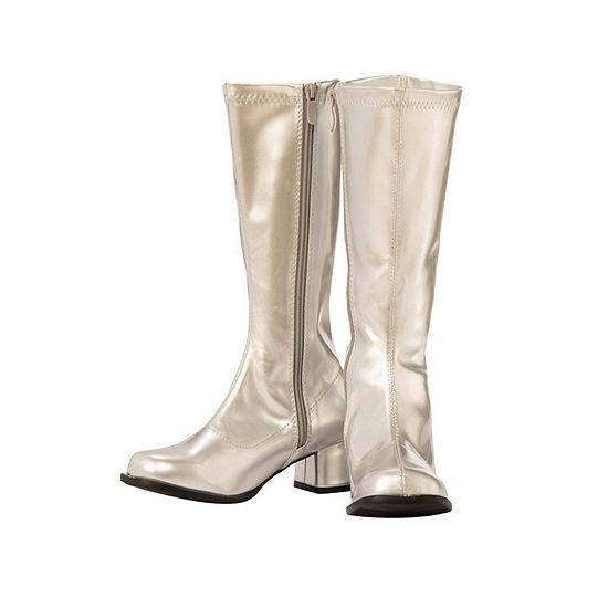 Child Gogo Boot Silver Costume
