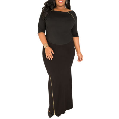 Poetic Justice Curvy French Terry Knit Maxi Skirt
