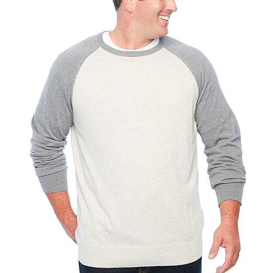 The Foundry Big & Tall Supply Co. - Big and Tall Crew Neck Long Sleeve Pullover Sweater