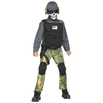 Skull Soldier Child Costume