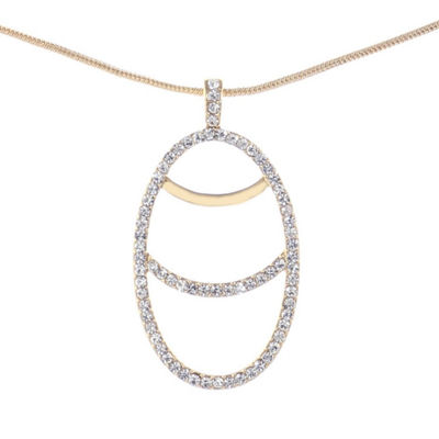 Liz Claiborne Womens Clear Pendant Necklace