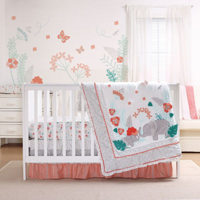 The Peanut Shell Safari Love 3-pc. Crib Bedding Set