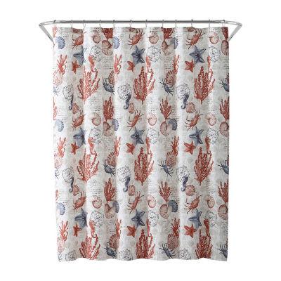 Inspired Surroundings Coastal Shower Curtain
