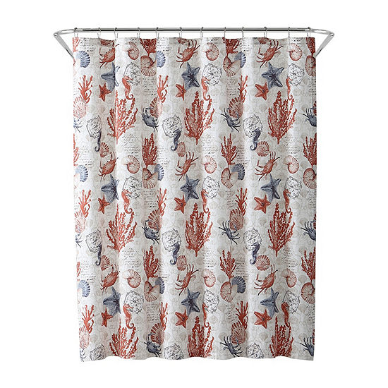 Inspired Surroundings Coastal Shower Curtain