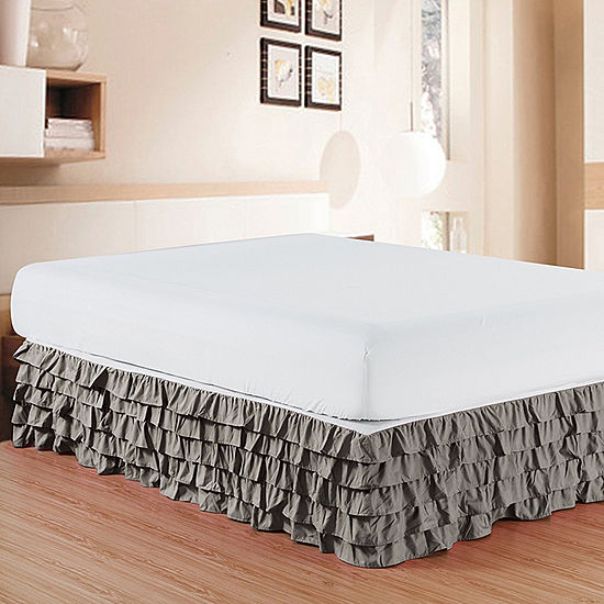 Elegant Comfort Luxurious Wrinkle And Fade Resistant Multi Ruffle Bed Skirt 15 Inch Drop