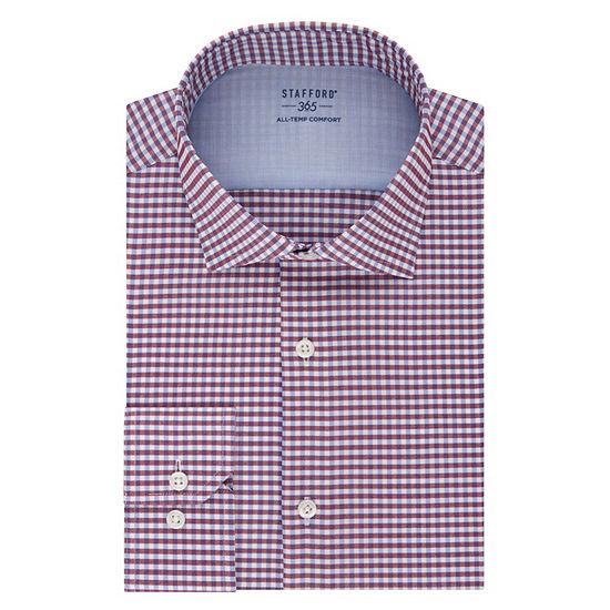 Stafford Mens Wrinkle Free 365 All-Temp Flex Collar Big and Tall Dress Shirt