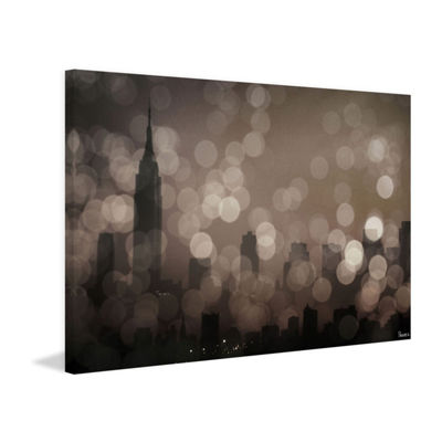 NY Sleeping Painting Print on Wrapped Canvas