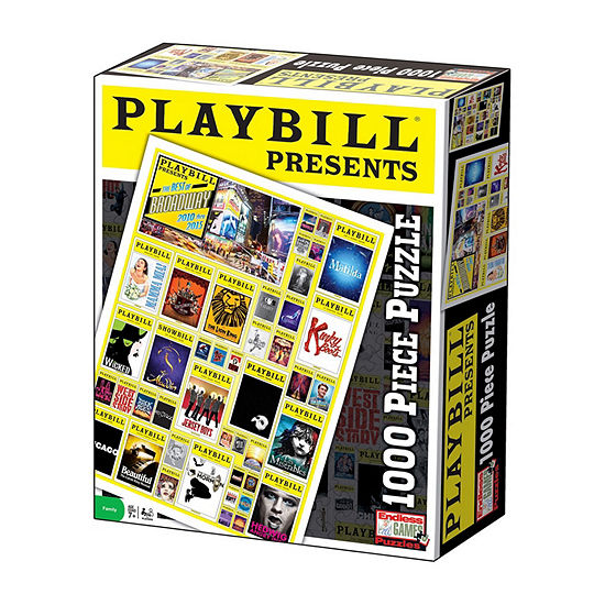 Endless Games Playbill - Best of Broadway Jigsaw Puzzle: 1000 Pcs